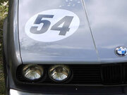 Le Mans font shown, 2 digits on magnetic circle.
